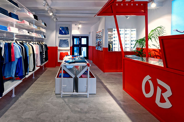 Orlebar Brown Mykonos Store in Greece.