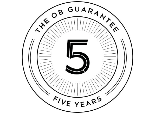 The OB 5 year Guarantee
