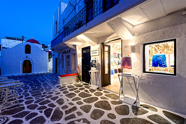 Orlebar Brown Mykonos Store in Greece.