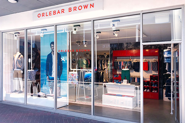 Orlebar Brown Store in Bondi Beach, Australia.