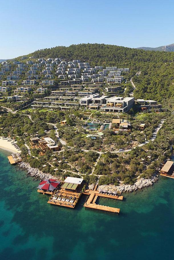Orlebar Brown Bodrum Hotel Aerial View