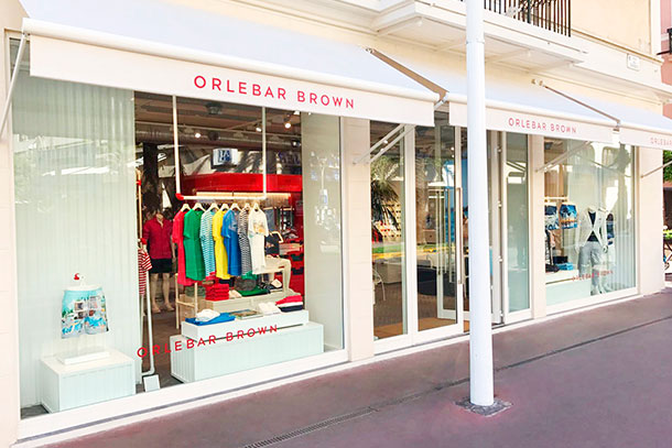 Orlebar Brown Store in Cannes, France.