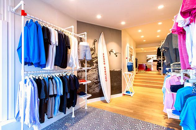 Orlebar Brown Store in Knokke-zoute, Belgium.