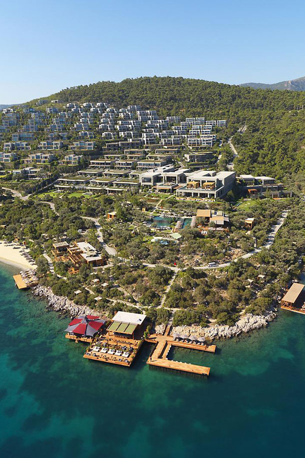 Orlebar Brown Bodrum Hotel Aerial View