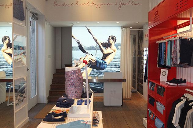 Orlebar Brown Soho Store in New York.