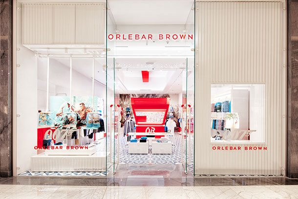 Orlebar Brown Dubai Mall Store in United Arab Emirates.