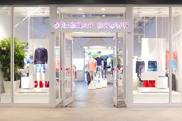 Orlebar Brown Brickell City Centre Store in Miami.