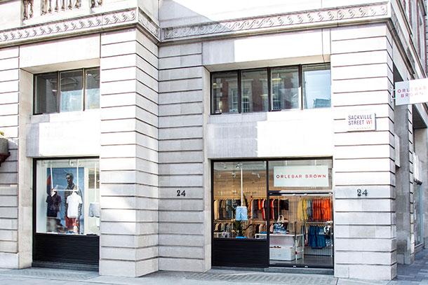 Orlebar Brown Mayfair Store in London.