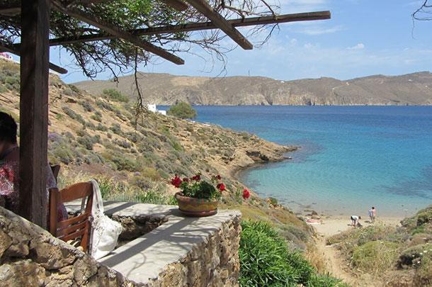 Kiki's Taverna on Agios Sostis Beach