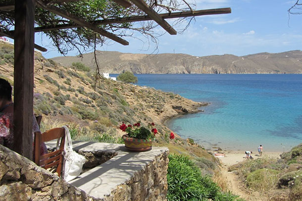 Kiki's Taverna on Agios Sostis Beach