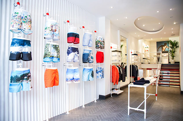 Orlebar Brown Westbourne Grove Store in Notting Hill, London.