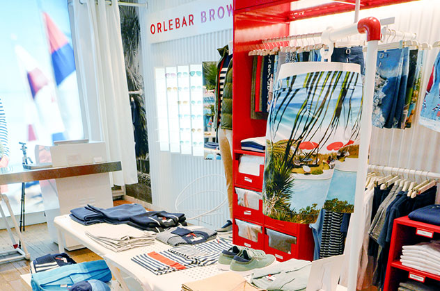 Orlebar Brown Soho Store in New York.