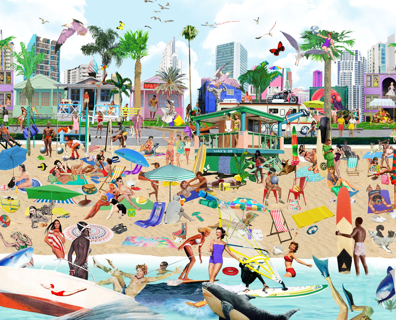 Sanda Anderlon Beach Life in LA