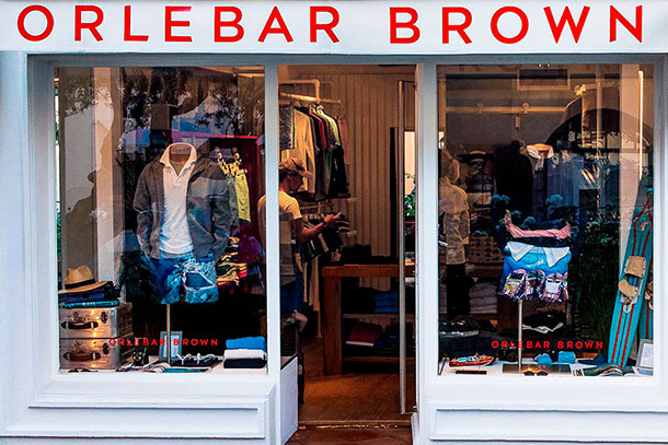 Orlebar Brown Store in Saint-Tropez, France.