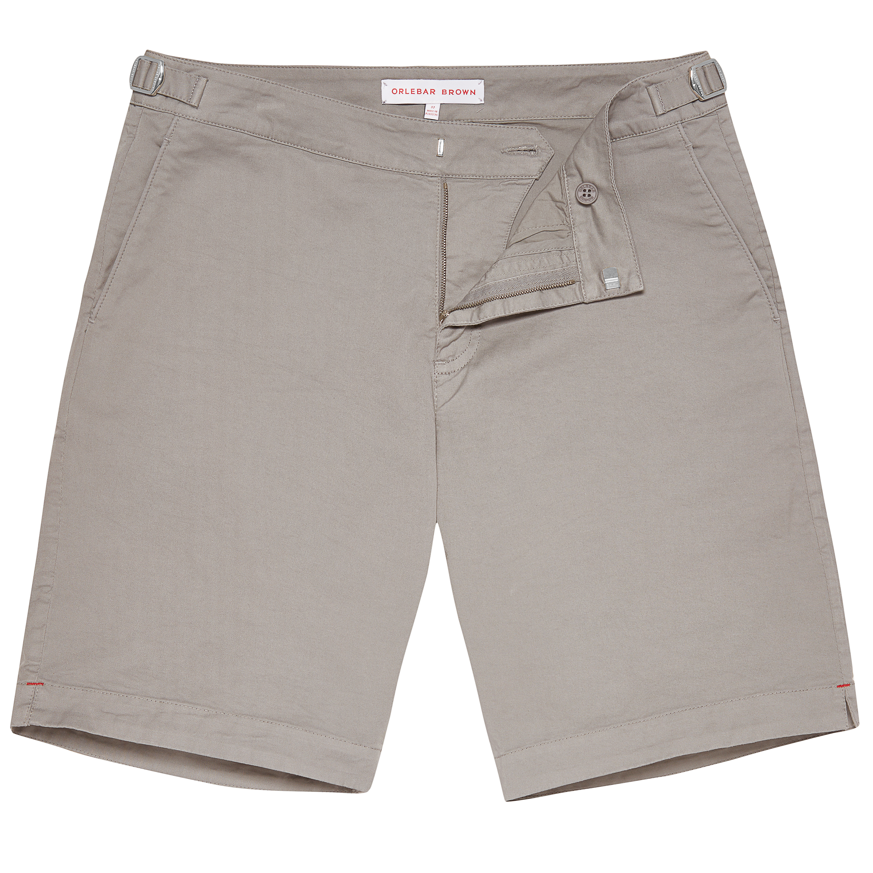 772954e460 Dane Cotton Twill - Pewter Longest Shorts | Orlebar Brown