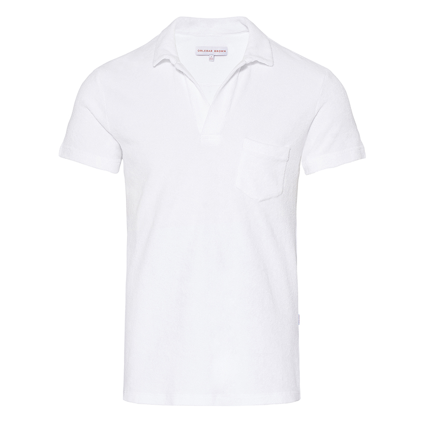 be7bbe862 Terry - White Towelling Resort Polo | Orlebar Brown